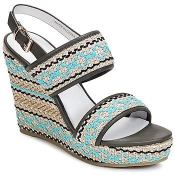 Schoenen Dames Sandalen / Open schoenen Café Noir JABALA Carbone / Turquoise