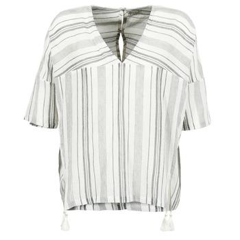 Textiel Dames Tops / Blousjes Stella Forest OWONI Ecru / Grijs