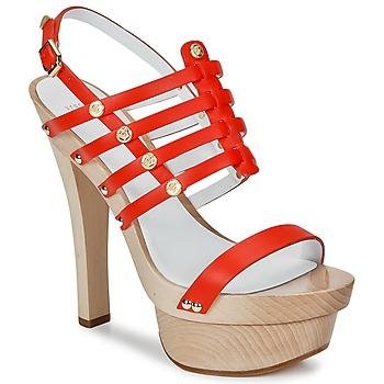 Schoenen Dames Sandalen / Open schoenen Versace DSL943T Rood