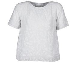 Textiel Dames T-shirts korte mouwen Manoush COTONNADE SMOCKEE Wit
