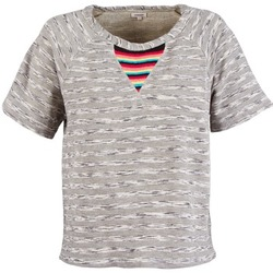 Textiel Dames T-shirts korte mouwen Manoush ETNIC SWEAT Grijs