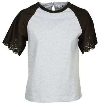 Textiel Dames T-shirts korte mouwen Manoush FANCY Grijs / Zwart