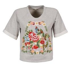 Textiel Dames T-shirts korte mouwen Manoush GIPSY Grijs