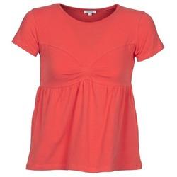 Textiel Dames T-shirts korte mouwen Manoush MOLLETON Corail