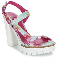 Schoenen Dames Sandalen / Open schoenen Desigual VENICE TURQUOISE / Roze