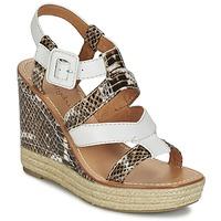 Schoenen Dames Sandalen / Open schoenen Mellow Yellow VANAIS Wit / Brown