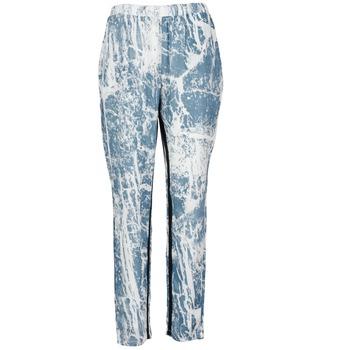 Textiel Dames Losse broeken / Harembroeken Vila GRUNGE ME Blauw / Wit
