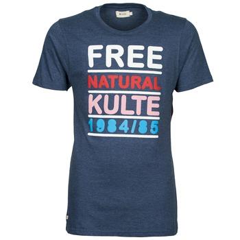 Textiel Heren T-shirts korte mouwen Kulte AUGUSTE FREE Blauw