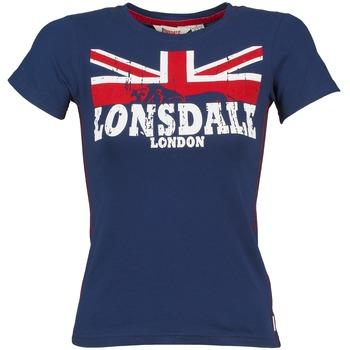 Textiel Dames T-shirts korte mouwen Lonsdale ERYKAH Blauw