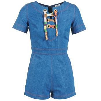 Textiel Dames Jumpsuites / Tuinbroeken Manoush LACET Blauw / Jean