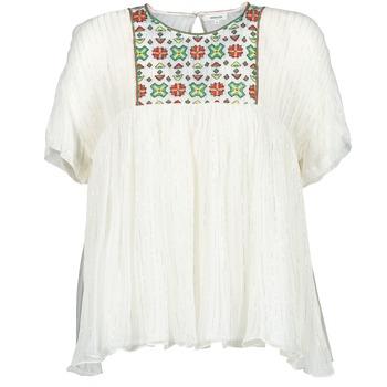 Textiel Dames Tops / Blousjes Manoush POINT DE CROIX Ecru