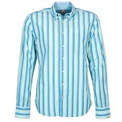 Textiel Heren Overhemden lange mouwen Gaastra SUMMERJAM Blauw / Wit