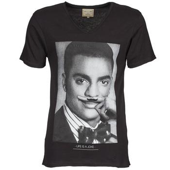 Textiel Heren T-shirts korte mouwen Eleven Paris MARLTON M Zwart