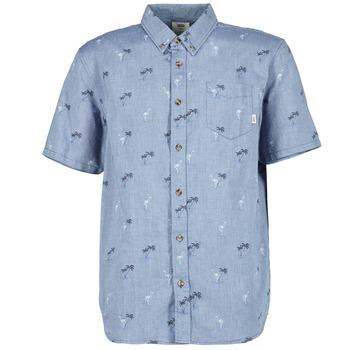 Textiel Heren Overhemden korte mouwen Vans HOUSER SS Blauw
