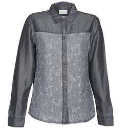 Textiel Dames Overhemden Esprit Denim Blouse Grijs