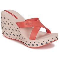Schoenen Dames Leren slippers Ipanema LIPSTICK STRAPS II Rood / Roze