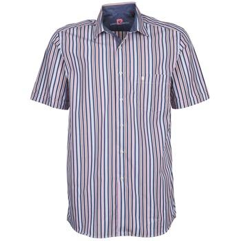 Textiel Heren Overhemden korte mouwen Pierre Cardin 514636216-184 Blauw / Roze