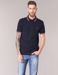 Textiel Heren Polo's korte mouwen Fred Perry SLIM FIT TWIN TIPPED Marine
