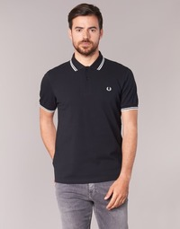 Textiel Heren Polo's korte mouwen Fred Perry SLIM FIT TWIN TIPPED Zwart / Wit