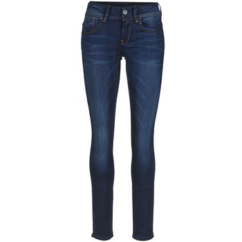 Textiel Dames Skinny Jeans G-Star Raw LYNN MID SKINNY Slander / Blauw / Superstretch / Medium / Aged