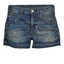 Textiel Dames Korte broeken / Bermuda's G-Star Raw ARC BF RIPPED SHORT WMN Blauw / Donker