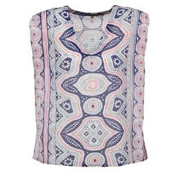 Textiel Dames Tops / Blousjes Antik Batik JAGGA Blauw / Multikleuren