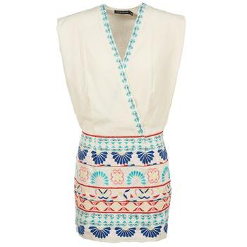 Textiel Dames Korte jurken Antik Batik POLIN Wit / Multikleuren