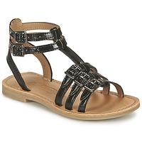 Schoenen Meisjes Sandalen / Open schoenen Shwik LAZAR BUCKLE Zwart