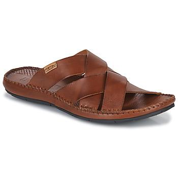 Schoenen Heren Leren slippers Pikolinos TARIFA Brown