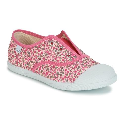 Schoenen Meisjes Lage sneakers Citrouille et Compagnie RIVIALELLE Roze / Multikleuren