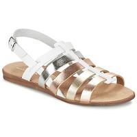 Schoenen Meisjes Sandalen / Open schoenen Citrouille et Compagnie PEQUEBELLO Wit / Goud