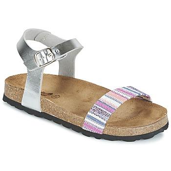 Schoenen Meisjes Sandalen / Open schoenen Citrouille et Compagnie IGUANA Zilver / Multikleuren
