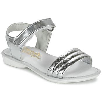Schoenen Meisjes Sandalen / Open schoenen Citrouille et Compagnie GOSAGOLA Zilver