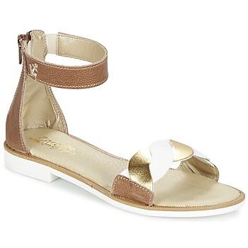 Schoenen Meisjes Sandalen / Open schoenen Citrouille et Compagnie MINIMAZA  CAMEL / Goud