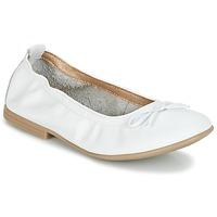 Schoenen Meisjes Ballerina's Citrouille et Compagnie JAPPALIE MOCA Wit