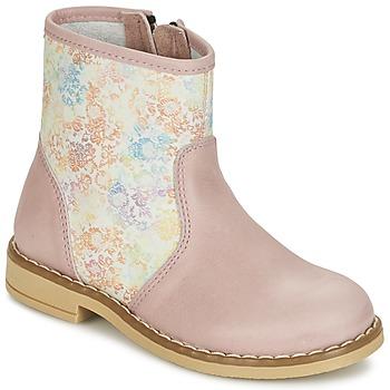 Schoenen Meisjes Laarzen Citrouille et Compagnie OUGAMO LIBERTY Roze / Flowercolor