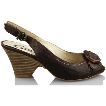 Schoenen Dames Sandalen / Open schoenen Giana Di Firenze GIANNA DI FIRENZE ETRUSCO MARRON