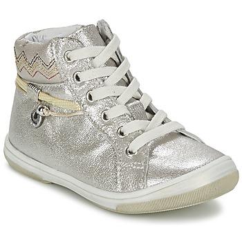 Schoenen Meisjes Hoge sneakers Catimini CALLUNA Beige / Zilver