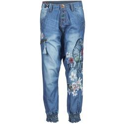 Textiel Dames Losse broeken / Harembroeken Desigual ANIATINE Blauw / MEDIUM