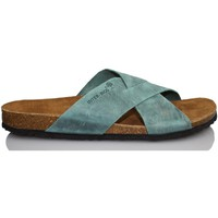 Schoenen Heren Leren slippers Interbios Sandals  AQUILES BLUE