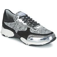 Schoenen Dames Lage sneakers Meline AMAL Zwart / Wit / Grijs