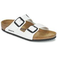 Schoenen Kinderen Leren slippers Birkenstock ARIZONA Wit