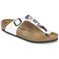 Schoenen Kinderen Slippers Birkenstock GIZEH Wit / Rood