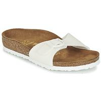 Schoenen Meisjes Leren slippers Birkenstock MADRID Wit / Pailleté