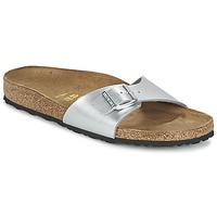 Schoenen Dames Leren slippers Birkenstock MADRID Zilver