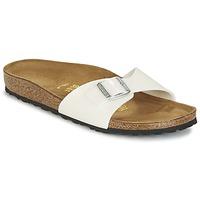 Schoenen Dames Leren slippers Birkenstock MADRID Wit
