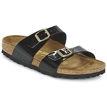 Schoenen Dames Leren slippers Birkenstock SYDNEY Zwart / Vernis