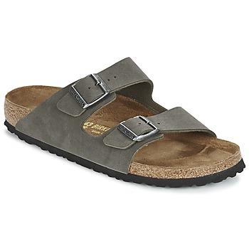 Schoenen Heren Leren slippers Birkenstock ARIZONA Kaki