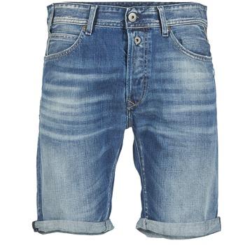 Textiel Heren Korte broeken / Bermuda's Replay SHORT 901 Blauw / 009