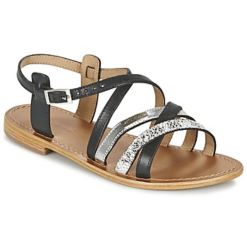 Schoenen Dames Sandalen / Open schoenen Les Tropéziennes par M Belarbi HAPAX Zwart / Zilver